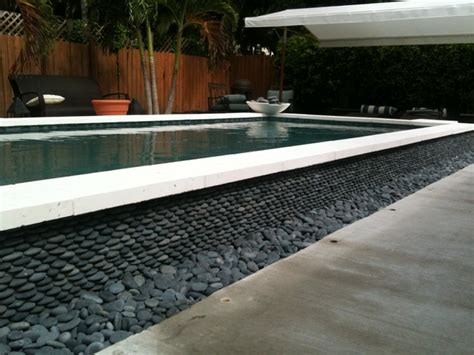 Pebble Stones Modern Setting by Pebble Installations Modern Pool Miami By Miami