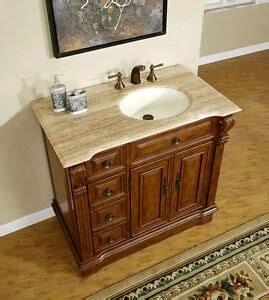 Bathroom Vanity With Center Sink by 38 Quot Single Bathroom Vanity Center Right Side Sink