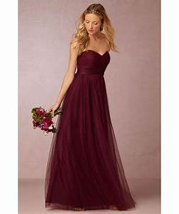Burgundy bridesmaid dresses types ideas and styles for Maroon dresses for wedding