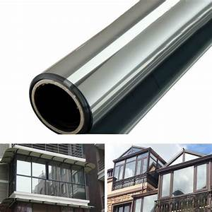 One Way Film : 200 50cm new window film one way mirror silver insulation stickers uv rejection privacy windom ~ Frokenaadalensverden.com Haus und Dekorationen