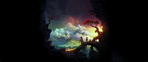 ultra wide painting fantasy art wallpapers hd desktop