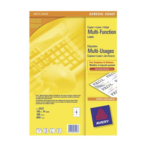 Avery Templates And Software by Avery Multi Function Labels 8 Labels Per Sheet 105 X