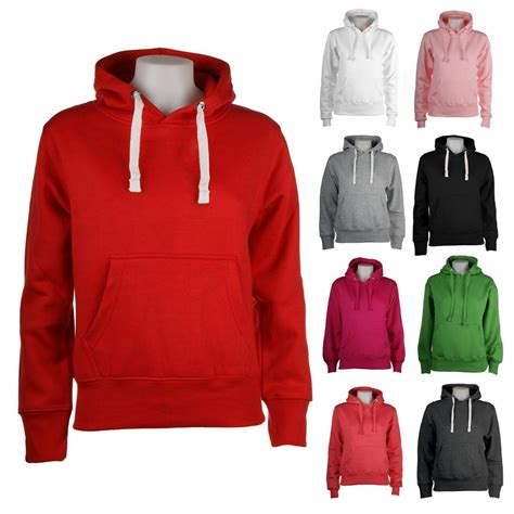 sweater with hoodie womens pullers plain hoodie hoody hooded sweatshirt