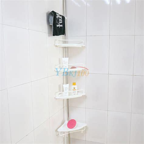 shower corner shelf chrome caddy bathroom shelves