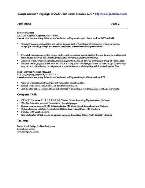 How To Put Trained New Employees On Resume by Sle Resume Exle 7 Hr Or Resume
