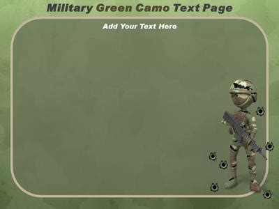 military camo  powerpoint template  presentermediacom