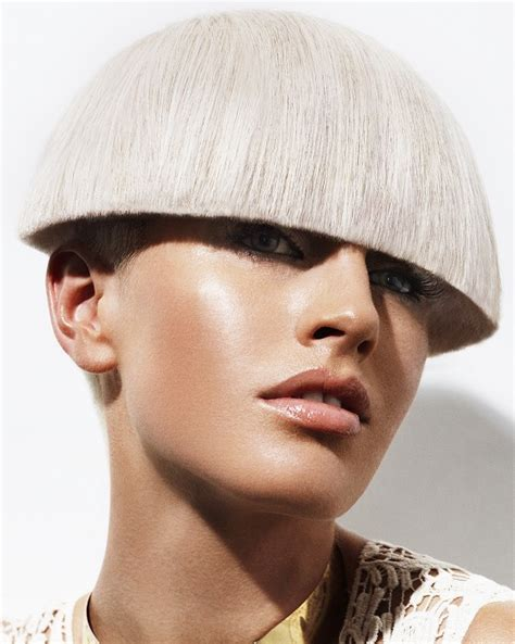 A Short Blonde hairstyle From the Helmet Collection by