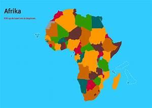 Interactieve kaart van Afrika Landen van Afrika Topo Wereld Mapas Interactivos de Didactalia