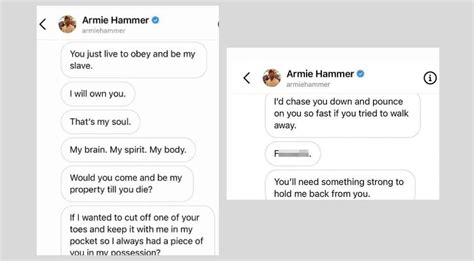 Armie Hammer's ex wife 'shocked' at sex, cannibalism chats ...