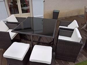 Table De Jardin Tressé : salon de jardin r sine tress e 4 8 places vasto ~ Dailycaller-alerts.com Idées de Décoration