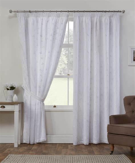white lined drapes summer white lined voile curtains from net curtains direct