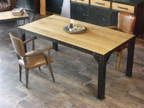 table cuisine industrielle table haute de style industriel micheli design
