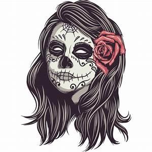 Tete De Mort Mexicaine Femme : stickers t te de mort mexicain femme color stickers ~ Melissatoandfro.com Idées de Décoration