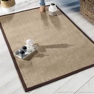 tapis sisal avec ganse en coton bayview chocolat With tapis berbere avec canape microfibre anti tache