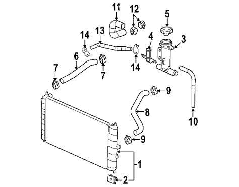 partscom saturn cooling radiator  components