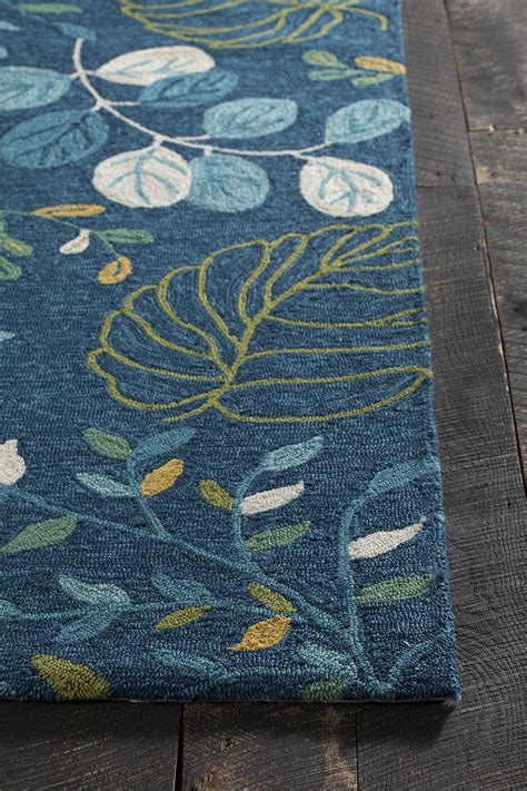 and blue rug terra collection tufted area rug in blue