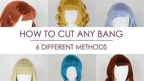 How to Cut Any Bangs 6 Different Methods YouTube