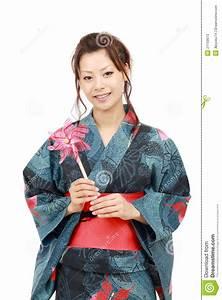 Moderne Japanische Kleidung : japanische frau in der kleidung des kimonos stockbild bild von asiatisch sch n 21159073 ~ Orissabook.com Haus und Dekorationen