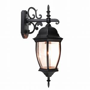 outdoor exterior lantern wall light lighting fixture black With lantern wall sconce