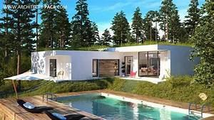 Maison Architecte Plain Pied : maison contemporaine bbc plain pied type 4d 39 architecte 172 villacontemporaine ~ Melissatoandfro.com Idées de Décoration