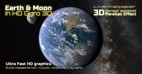 3d Effect Wallpaper Ipx earth moon in hd gyro 3d parallax live wallpaper
