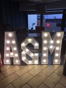 illuminated letter lights hire northampton With letter lights hire