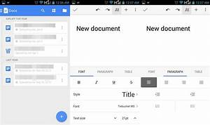 apk google docs updated with new ui android l support With features of google documents