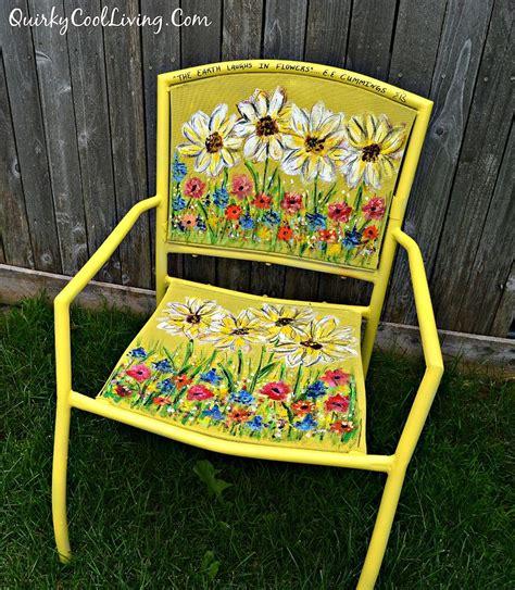 Hometalk  Painted Garden Chair Art
