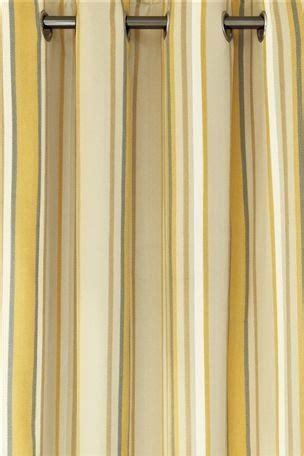 ochre woven stripe eyelet curtains nesting bedroom