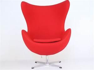 fauteuil egg arne jacobsen rouge With fauteuil jacobsen