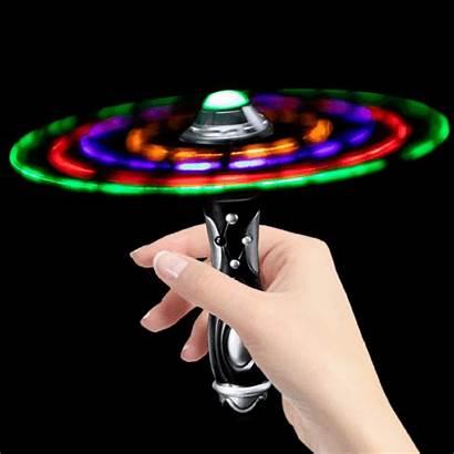Wand Led Flashing Spinning Ufo Space Ball