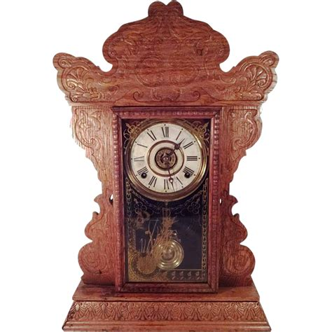 vintage l value antique e n welch 8 day gingerbread mantle clock sold on