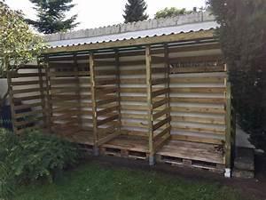 Gartenzaun Günstig Selber Bauen : einen stabilen brennholzunterstand brennholzschuppen gut und g nstig selbst bauen ~ Markanthonyermac.com Haus und Dekorationen