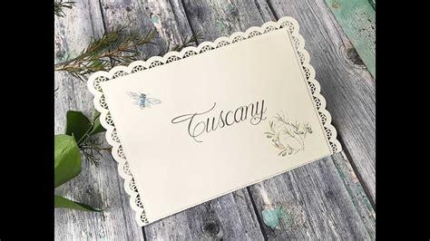 diy wedding table name card how to make pretty summer wedding table name cards youtube