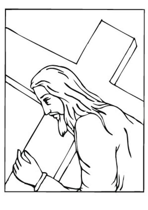 ausmalbilder jesus  kreuz tragen jesus malvorlagen
