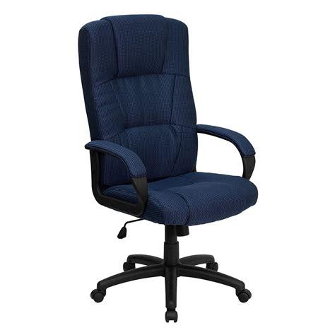 navy blue desk chair ergonomic home high back navy blue fabric executive swivel