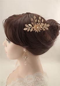 Wedding Hair Comb Rose Gold Vintage Inspired Swarovski
