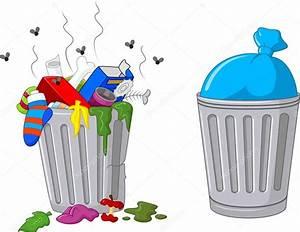lata de lixo de desenho animado Vetores de Stock © tigatelu #73709373
