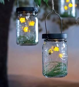 Solar, Firefly, Mason, Jar, Lanterns, Set, Of, 2