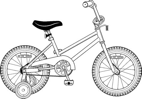 kid bike drawing coloring page coloring pages  print