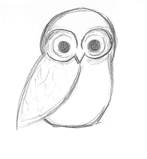 easy owl sketch