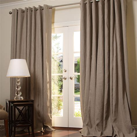 lined burlap curtains linen burlap curtains home the honoroak