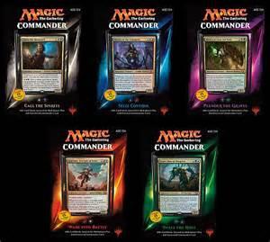 nyhed magic commander 2015 edh multiplayer deck bundle alle fem decks kelz0r dk theme