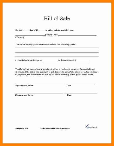 car bill of sale word bill of sale template word blank simple printable bill of