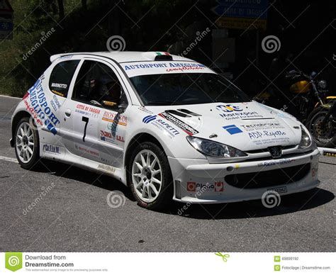 peugeot 206 rally peugeot 206 super 1600 rally car editorial photography