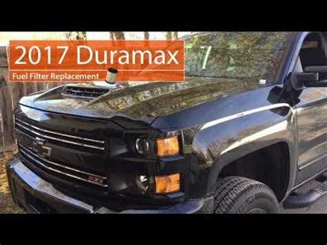 duramax fuel filter replacement lp youtube
