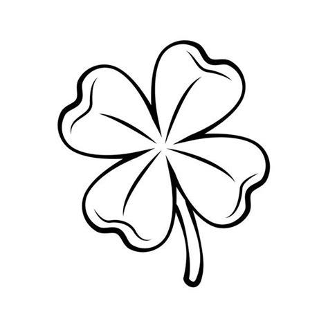 clover  leaf contour st patrick  day svg