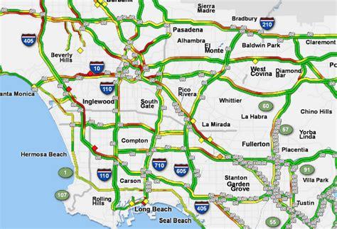 los angeles freeway traffic map indiana map