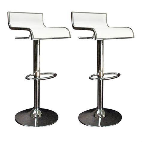 tabourets de bar cuisine blanc waves lot de 2 achat