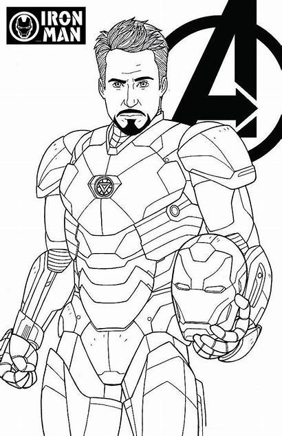 Avengers Endgame Coloring Iron Stark Tony Pages